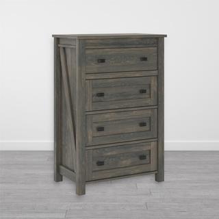 The Gray Barn Latigo Weathered Oak 4-drawer Dresser