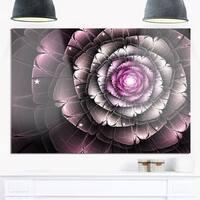 Fractal Flower Glossy Pink Digital Art - Large Floral Glossy Metal Wall Art