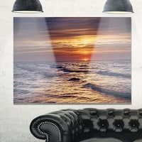 Sunset over the Baltic Sea - Modern Seashore Glossy Metal Wall Art