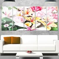 Designart 'Beautiful Sugar Flower Decoration' Flower Glossy Metal Wall Art