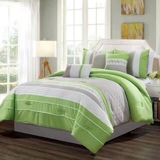 Leela embroidered 7 piece comforter set