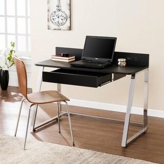 Harper Blvd Tilham Black w/ Chrome Desk w/ USB