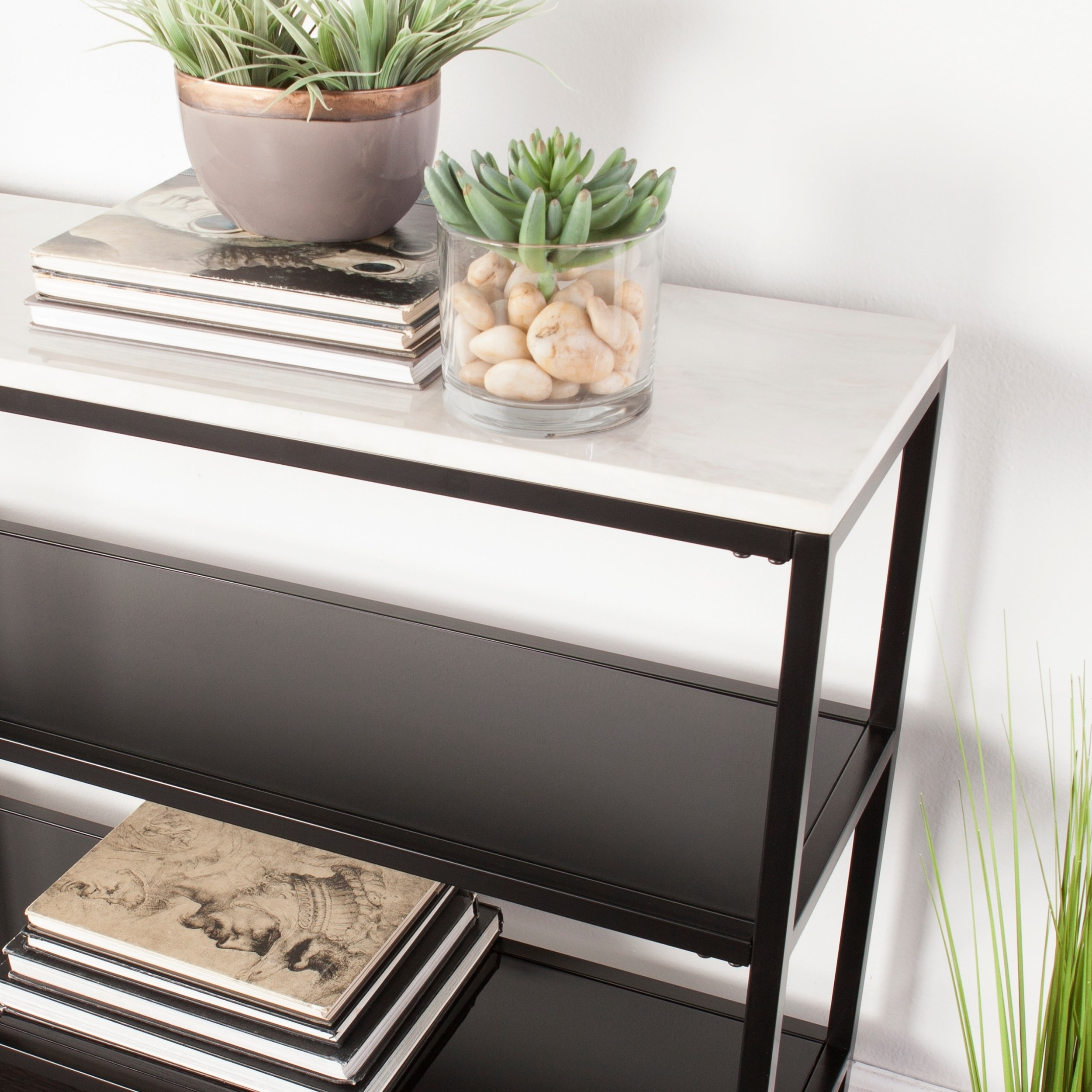 Faux Marble Sofa Table Furniture Acme Boice Ii Faux Marble
