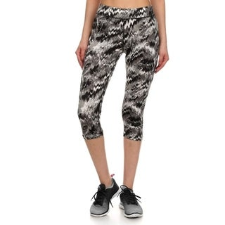 Junior's Teenager Active Seamless Printed Capri Leggings Pants