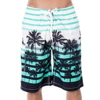 Men's Casual Beachwear Big Coconut Trees Board Shorts Swim trunks