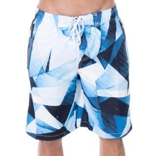 1e7ec702f3 Shop Men's Jayden Triangle Geo Print Elastic Waistband Swim Trunks ...