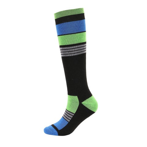 Men's Merino Wool Snow Socks w/ Moisture-Wicking Full Terry Interior