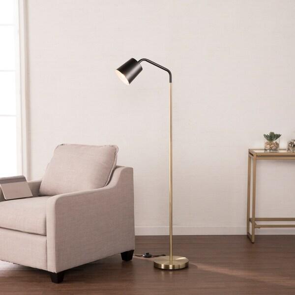Harper Blvd Lofton Black w/ Brass Geometric Floor Lamp