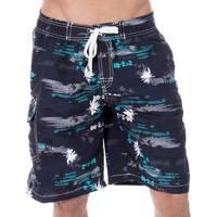 Men's Casual Beachwear Coconut Trees Board Shorts Swim Trunks