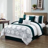 Chula embroidery 7 piece comforter set
