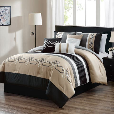 Akua embroidery 7 piece comforter set