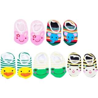 5 Pairs Baby Toddler Anti-Slip & Skid Resistant Animal Shoe Socks