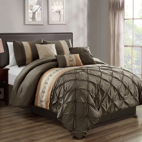 Sarah embroidery 7 piece comforter set