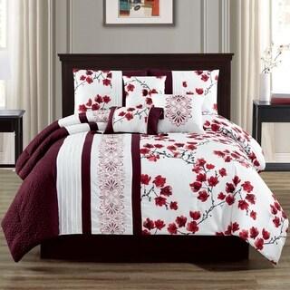 Camilla Embroidery 7-piece Comforter Set