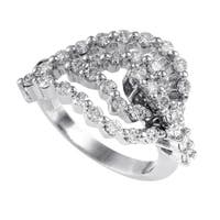 Women's  White Gold Diamond Leaf Ring 21832332