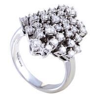 Women's  White Gold Diamond Cluster Ring