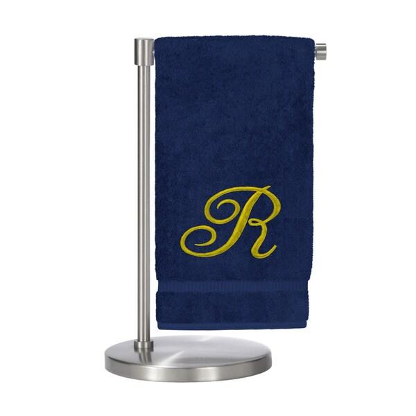 Gold Script Monogrammed Turkish Cotton 27x54-inch Bath Towel (set of 2) - R