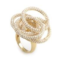 Yellow Gold Diamond Circles Ring CRR8130