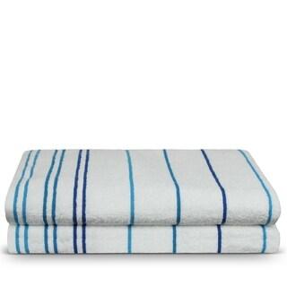 Turkish Cotton 35x70-inch Striped Beach Towels (set of 2)