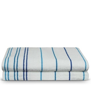 Turkish Cotton 35x70-inch Striped Beach Towels (set of 2)