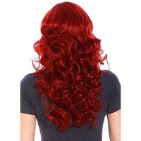 Cosplay Red Curly Wig - Lovely Women Long Curly Wig with Free Wig Cap