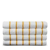 Turkish Cotton Striped Pool Beach Towels (Set of 4)
