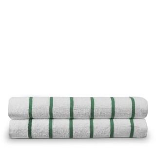 Turkish Cotton 30x60-inch Striped Beach Towel (set of 2)