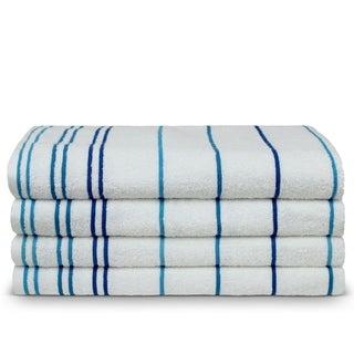 Turkish Cotton 35x70-inch Striped Beach Towels (set of 4)