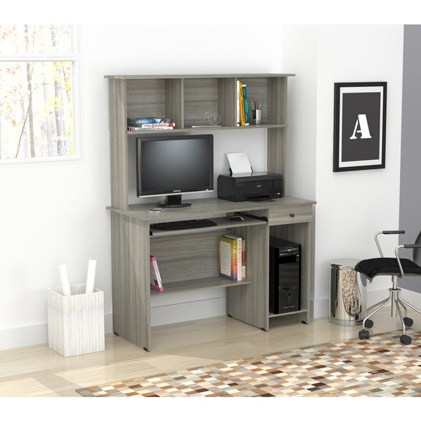 shop inval computer desk and hutch free shipping today overstock