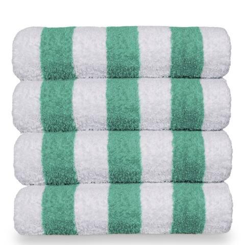 Turkish Cotton 30x60-inch Cabana Striped Beach Towel (set of 4)