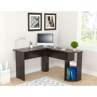 Inval Merlin Espresso Wengue Corner Desk