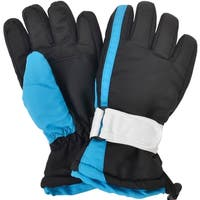 Boys Kids Waterproof Thinsulate Lined Colorblocked Snow Ski Gloves