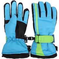 Kids Snow Ski Glove Waterproof Thinsulate Lined Winter Warm Mittens