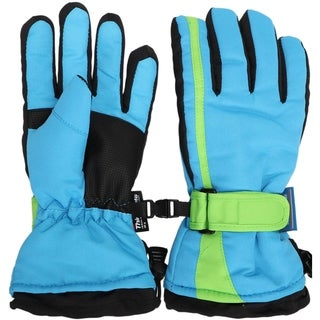 Kids Snow Ski Glove Waterproof Thinsulate Lined Winter Warm Mittens