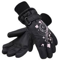 Kid's Thinsulate Lined Waterproof Winter Snowboard Ski Gloves