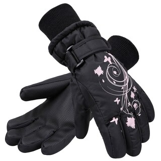 Kid's Thinsulate Lined Waterproof Winter Snowboard Ski Gloves