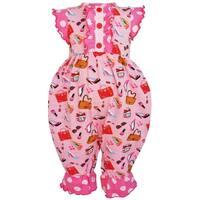 AnnLoren Baby Girls Boutique Cotton Dressup Polka Dot Romper
