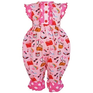 AnnLoren Baby Girls Boutique Cotton Dressup Polka Dot Romper (3 options available)