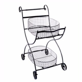 Well-designed Metal Utility Cart & Stand, black