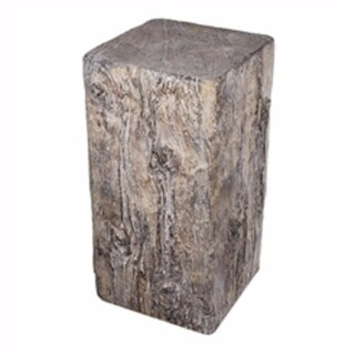 Fabulous Square Faux-Beam Cement Stool, Brown