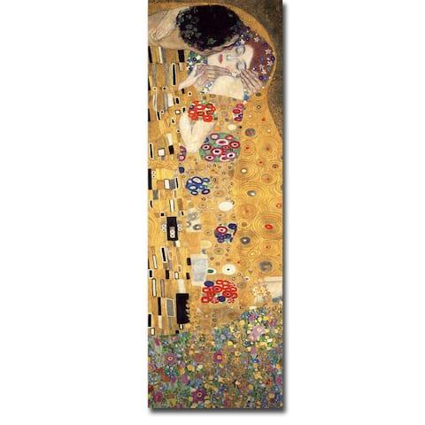 Gustav Klimt 'The Kiss' Gallery-wrapped Canvas Giclee Art