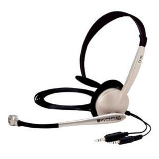 Koss CS95 - Portable, Single-sided Electret NC Mic, Dual Plug