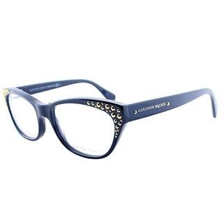 Alexander McQueen Cat-Eye AMQ 4222 PJP Women Blue Gold Frame Eyeglasses