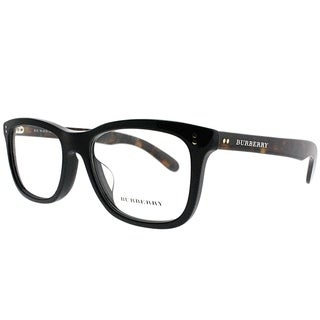 Burberry Rectangle BE 2212 3554 Unisex Black on Havana Frame Eyeglasses