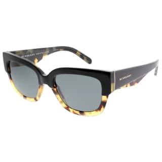 ed3a528fef2 SALE. Burberry Square BE 4252 364987 Women Top Black On Havana Frame Grey  Lens Sunglasses