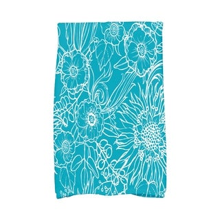16 X 25 Inch Zentangle 4 Floral Print Hand Towel