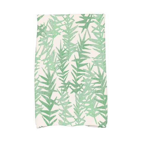 18 x 30 Inch Spikey Floral Print Hand Towel