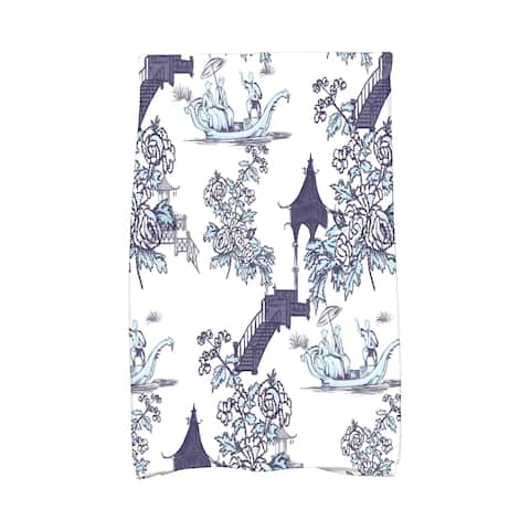 16 x 25 inch China Old Floral Print Hand Towel