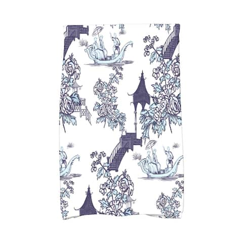 18 x 30 inch China Old Floral Print Hand Towel