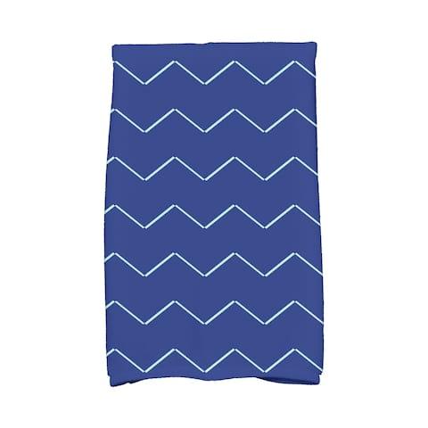 16 x 25 inch Harlequin Stripe Geometric Print Hand Towel